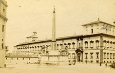 Italy Roma Place of Quirinale Old CDV Photo 1870