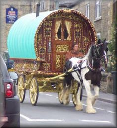 Gypsy wagon... I really would love a holiday in one of these, but don't think I'd like to live in one permanently... I like to stretch!