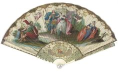 'BACCHUS AND ARIADNE ON THE ISLAND OF NAXOS', A FINE FAN 18TH CENTURY Price realised. GBP 1,250. 1/10/08