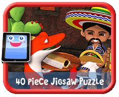 Wanna Burrito? - 6 Piece Online jigsaw puzzle for kids