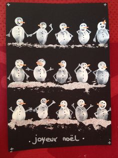 Fantastic Cost-Free Snowmen crafts handmade Suggestions Snowman Xmas designs might really be built all of throughout the winter leaving the particular Chris Christmas Activities, Christmas Crafts For Kids, Xmas Crafts, Christmas Projects, Kids Christmas, Christmas Decorations, Painting For Kids, Art For Kids, Fingerprint Art