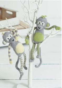 Molly & Mickey Monkeys. The first of Sirdar's Noah's Ark knit-along available now on the free patterns page of the their website. View the whole range of Sirdar Baby Bamboo on our website | English Yarns http://www.sirdar.co.uk/images/products/The%20Citrus%20Monkeys%20by%20Sue%20Jobson%20-%20Sirdar%20Knitalong%20Part1.pdf http://www.englishyarns.co.uk/cgi-bin/sh000405.pl?WD=bamboo%20baby&PN=Sirdar_Baby_Bamboo_DK.html#a1_21323_2dSirdarBks