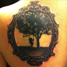 General idea for my next tattoo! frame girl swing  by wages, via Flickr