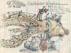 François Delarozière - Google 搜尋 Aquarium, Carrousel, Octopus Art, Jules Verne, Automata, Steampunk, Anime, Architectural Drawings, Puppet