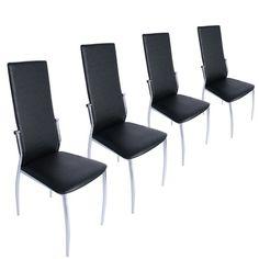 Miadomodo - EZSTL04-2schwarz - Conjunto de 4 sillas de comedor de cuero artificial - Negro - Dos colores a elegir ✿ ▬► Ver oferta: https://cadaviernes.com/ofertas-de-sillas-comedor/ Para ver mas visita este enlace https://cadaviernes.com/ofertas-de-sillas-comedor/