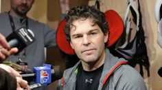New Jersey Devils' Jaromir Jagr, of Czech Republic, talks to the media ...