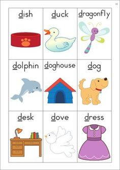Alphabet Vocabulary Cards for initial, medial and final sound positions. Phonics Flashcards, Alphabet Phonics, Alphabet Worksheets, Letter Sound Activities, Preschool Learning Activities, Alphabet For Toddlers, Word Games For Kids, Abc Coloring Pages, Alphabet Sounds