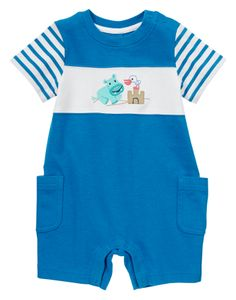 Hippo Colorblock One-Piece at Gymboree