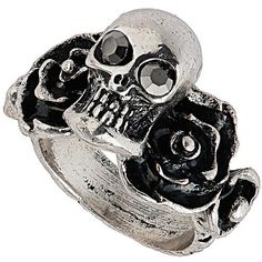 TOPSHOP Floral Skull Ring and other apparel, accessories and trends. Browse and shop 8 related looks.