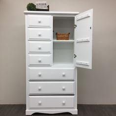 Little White: This is our true pure clean white that is perfect for modern or shabby chic pieces. Little White pairs with all other Superior Paint Co. Chalk Paint Furniture, White Furniture, Solid Pine, Solid Wood, High Boy Dresser, Storage Chest, Locker Storage, White Chalk Paint, White Home Decor