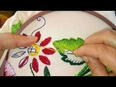 Getting to Know Brazilian Embroidery - Embroidery Patterns Brazilian Embroidery Stitches, Embroidery Stitches Tutorial, Types Of Embroidery, Learn Embroidery, Crewel Embroidery, Cross Stitch Embroidery, Crochet Stitches, Crochet Pattern, Hand Embroidery Flowers