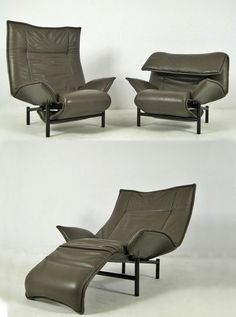 Veranda lounge chairs by Vico Magistretti