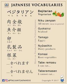 Valiant Japanese Language School | IG/FB - @ValiantJapanese | Japanese Vocabularies | Daily Use | Topic: Vegetarian Diet
