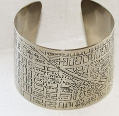 Chicago Wicker Park Map Bracelet