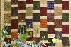 Quilt Patterns Using 5 Fabrics | Belinda at Eucalypt Ridge Quilting quilted this beautifully in a 'boy ...