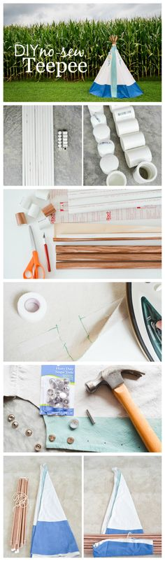 DIY No Sew Teepee with Tutorial - perfect for any kids room!