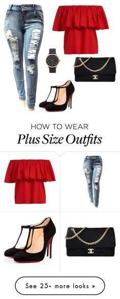 """set1"" by silvada-comi on Polyvore featuring Christian Louboutin, Chanel and Marc Jacobs"