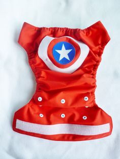 Captain America One Size pocket AI2 AIO by GreenBeansDiapers, $21.00