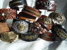 DIY Recycled Leather Cuff Bracelet tutorial - don't know if this goes to a tutorial, didn't click on the link.
