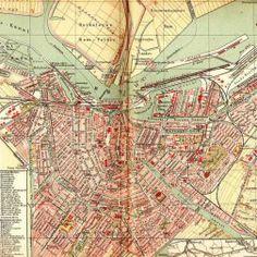 Amsterdam - Historische kaart uit 1901