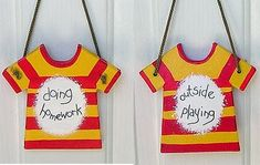Cute idea for letting friends or even parents know what the kids are doing.