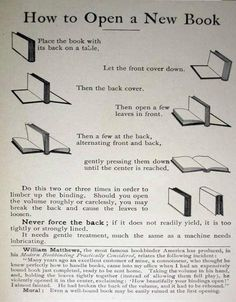 How to open a new book (Without Ruining the Spine)