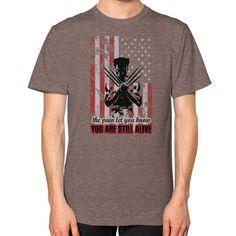 x men Unisex T-Shirt (on man)
