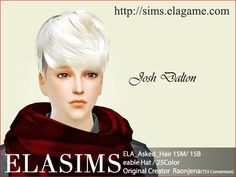 """elagamestudio: """" Sims 4 Convert Hair 15M / B """" For male / boy Original creator : Raonjena enable hat sim was used to Josh Dalton that Sim3village made. TS3 Conversion. """" You can download via our website. Our website also offers English so if you..."""