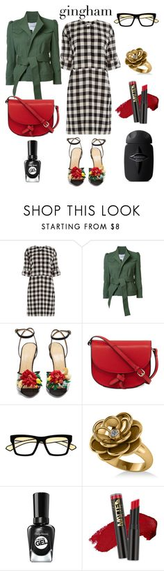 """""""Gingham dress"""" by confusioninme ❤ liked on Polyvore featuring Warehouse, 10 Crosby Derek Lam, Charlotte Olympia, KC Jagger, Dita and Allurez"""