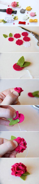 DIY - Flores de fieltro.