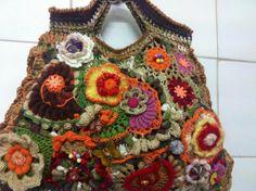 The Wonders of Fiber by Lisa Gossman-Steeves on Etsy Crochet Unique, Beautiful Crochet, Bohemian Gypsy, Boho, Beau Crochet, Handmade Market, Unique Purses, Freeform Crochet, Winter Sale