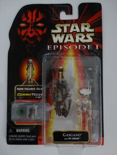 /'99 Star Wars Episode 1 Darth Maul Sith Lord figure sabre laser Commtech Chip