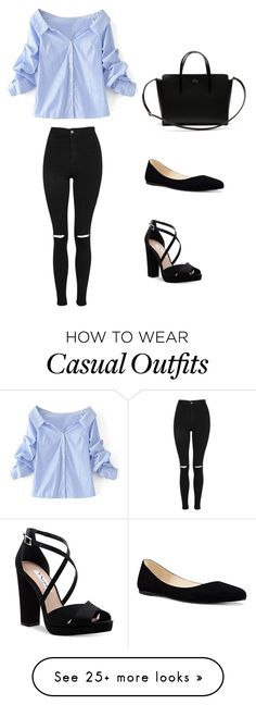 """Casual look"" by misscsp on Polyvore featuring WithChic, Topshop, Nina, Nine West and Lacoste"