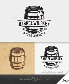 Barrel Whiskey Logo Template #design #logotype Download: http://graphicriver.net/item/barrel-whiskey-logo/10815008?ref=ksioks