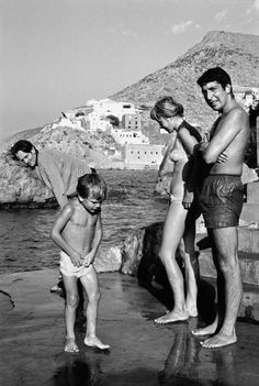 Leonard Cohen in 1960, with his muse Marianne Ihlen on the shore of the island…