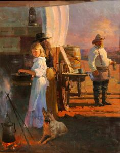 "Mian Situ (Chinese/American, born 1953)  ""Cowboy's Dinner"""