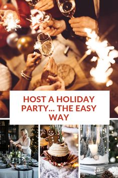 The best tips and hacks for hosting a holiday party the easy, hassle-free way. Classy Christmas, Xmas, Party Hacks, Party Ideas, Christmas Party Decorations, House Party, Holiday Parties, Decorating Tips, Goodies