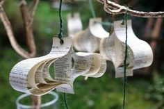 Recycled Book Ornaments - Shakespeare Plays and Comics as Christmas Garlands (GALLERY)