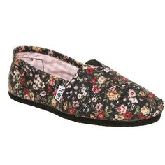 Toms Classic slip on 2011 floral smu ($55) ❤ liked on Polyvore featuring shoes, flats, toms, zapatos, women, leather flat shoes, flat shoes, toms footwear, leather slip on shoes and floral print flats