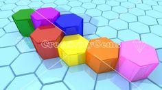 #Business concept with #hexagon #pillars – CreativityGems
