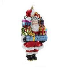 Kurt Adler 7.87-inch Polonaise Santa with Presents Ornament - Overstock Shopping - Great Deals on Kurt Adler Seasonal Decor