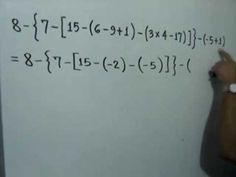 Polinomio aritmético con signos de agrupación: Julio Rios explica la solución de un polinomio con números donde hay paréntesis, corchetes y llaves