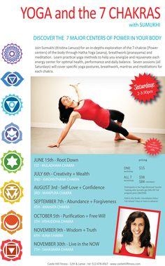 Yoga and the 7 Chakras with Sumukhi Hare OM! Kundalini Yoga, Pranayama, Yoga Meditation, Yoga Workshop, Yoga Teacher Training Course, Yoga Philosophy, Types Of Yoga, 7 Chakras, Sports