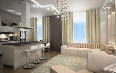 Dizajn dnevne sobe u win-win Ceiling Design, Cosy, Living Room Designs, Home Furnishings, Cool Designs, Room Decor, Curtains, Flooring, Interior
