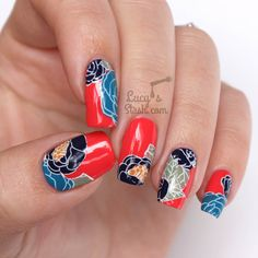 Retro Floral Nail Art with SpaRitual Polishes http://www.lucysstash.com/2015/06/retro-floral-nail-art-with-sparitual-polishes.html