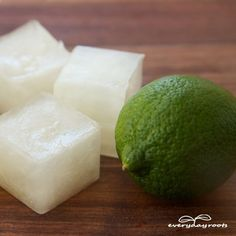 Electrolyte Ice Cubes- these homemade ice cubes are a great natural way to get rid of morning sickness.   meatgodsmeatgods
