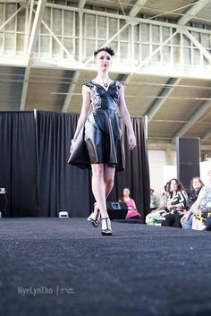 Shades Company: Faux Leather and stretch fabric by ShadesCOMPANY #shadescompany #queerfashionweek