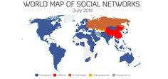 Imaginemos por un momento que el mapa que acompaña el artículo fuera todo azul.  Las consecuencias seguramente acaben por ser desastrosas. Un monopolio, de la índole que sea, lleva ineludiblemente a la pérdida de innovación y menosprecio del cliente que sí encontramos en sectores ricos en competencia.  Y hacia ahí navegamos en el mundo social, como demuestra el Mapa Mundial de Redes Sociales de este año, al compararlo con el de otros.  #Facebook #SocialMedia