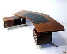 Osvaldo Borsani, Boomerang Executive Desk #t96 for Tecno, 1956.