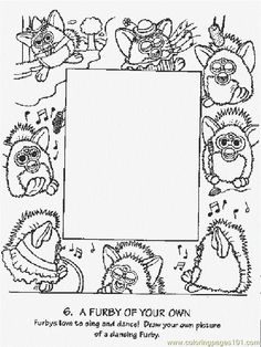 furby cartoon coloring pages | 1000+ images about furby coloring pages on Pinterest ...